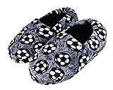 Tirzrro Big Boys' Winter Warm Slippers with Memory Foam Indoor Slip-on Slipper Size 4-5 US Gray