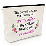 Birthday Gift for Aunt Gifts from Niece Makeup Bag Sister Gift From Sister Thank You Gifts for Auntie Cosmetic Bag Mother's Day Gifts for Christmas Retirement Little Sister Gifts Big Sister Gift