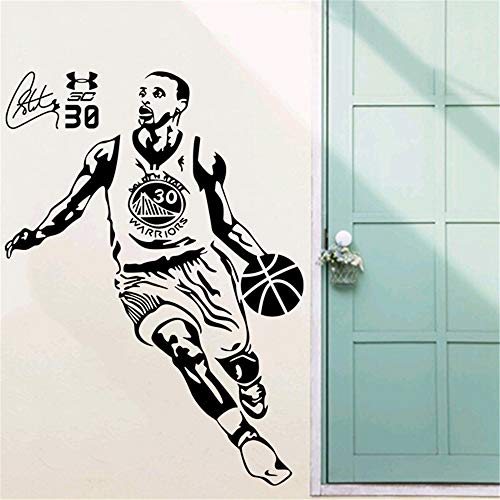 pegatina de pared 3d Deportes pegatinas de pared baloncesto decoración de la pared arte de la pared estrella del baloncesto Stephen Curry decoración de la pared pegatinas decoración de la pared