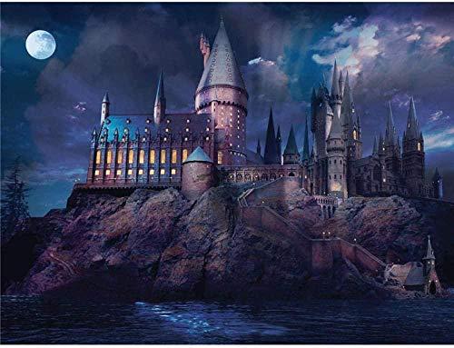 ® Rompecabezas Rompecabezas De Hogwarts Castlejigsaw para Adultos 1000 para Decoración del Hogar Pintura 75 * 50 Cm