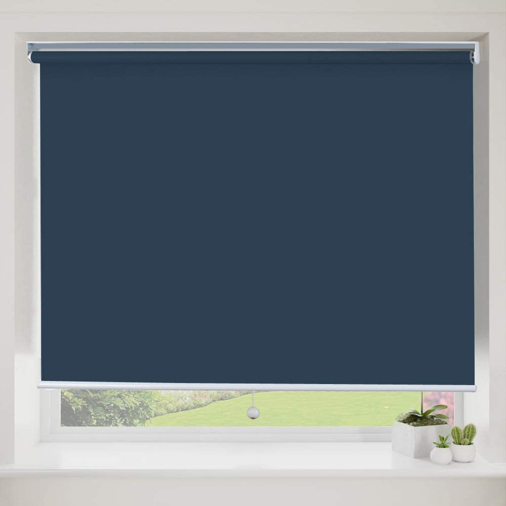 Blackout Cordless Window Sale Max 41% OFF item Shades Blue Roller B Fabric Waterproof