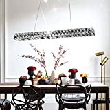 CLEAVE WAVES Moderna Lámpara De Cristal LED, Lámpara De Techo De Acero Inoxidable 6000K Iluminación Decorativa Ajustable para Salón, Dormitorio, Comedor Y Cocina