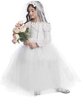 Bridal Princess Costume Pretty Little Wedding Dress Costume for Girls