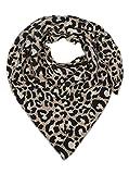 Sciarpa triangolare con cashmere, sciarpa di alta qualità dal design sobrio Leo per donne, ragazzi e ragazze, sciarpa da donna beige. Taglia unica
