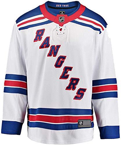 Outerstuff NHL Kids Youth 4-20 Blank Home Alternate Away Premier Team Jersey (New York Rangers Away White, 8-12)