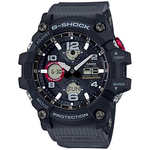 Casio G-Shock Reloj de cuarzo con esfera negra para hombre GSG100-1A8
