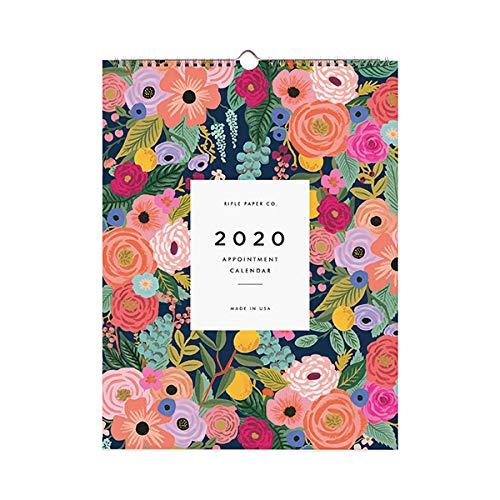 Calendario de citas de flores de jardín de papel para rifle 2020