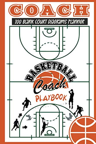 Basketball Playbook for Coaches: Basketball Coaching Notebook with 100 Blank Court Diagrams: A Planner to Create a Coach Playbook (Coaching Gifts for Basketball)