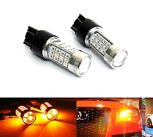 2 x Ambre 582 W21 W WY21 W 580 W21/5 W ampoule LED Samsung 40 W veilleuses côté Indicateur Tour Signal Queue Arrêt lumière du jour DRL