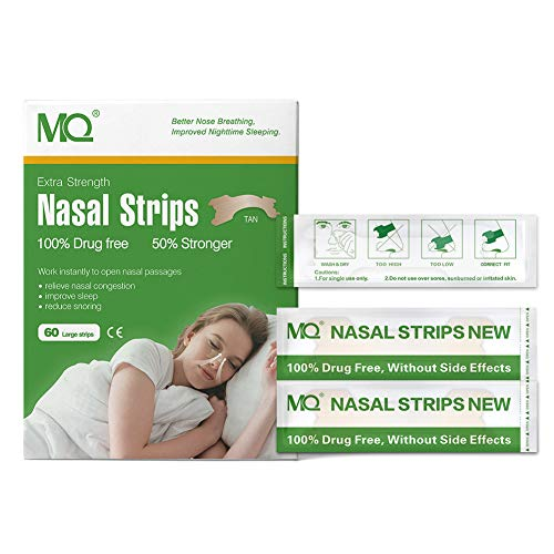 Metermall 60 Pcs Breathe Right Better Nasal Strips Right Way To Stop Snoring Anti Snoring Strips Easier Better Breathe Health Care