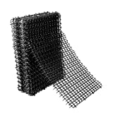Hmyomina 8 Pack Cat Scat Mat 16 X 8 Inch Square Scat Mat for Cats Prickle Strips from Digging Cat Deterrent Outdoor(Black)