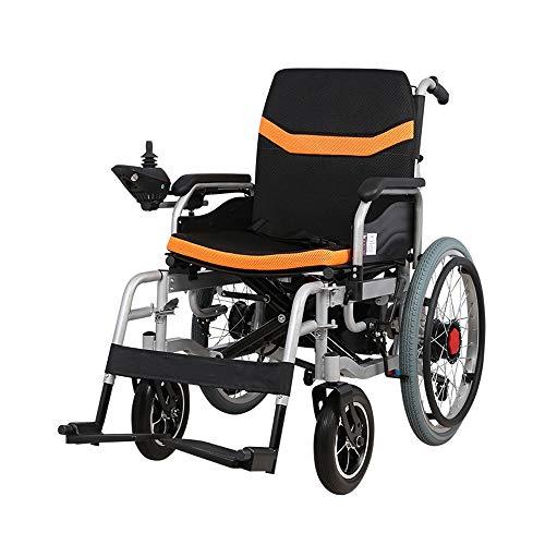 Opvouwbare rolstoel lichtgewicht for volwassenen Elektrische rolstoelen, Folding Portable Powerchair 250W2 Dual Motor Drive Met Electric Power kunt u handmatig gehandicapte ouderen Aluminium 12AH Lith