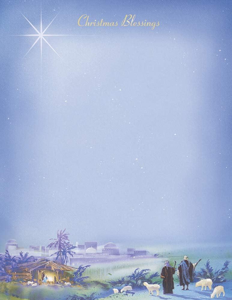 Wondrous Light Regular dealer quality assurance Christmas Stationery Paper - 80 Sheets