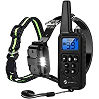 Slopehill Waterproof Remote Rechargeable Dog Collar with Vibration