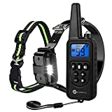 Slopehill Dog Training Collar, Waterproof Dog Shock Collar with 2600Ft Remote, Rechargeable Dog Collar with Vibration, Beep Shock Modes, Adjustable 0 to 99 Shock Levels Dog Training Set