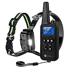 4 TRAINING MODES DOG TRAINING COLLAR - Slopehill electronic shock collar with led light, Static Stimulation mode, Vibration mode, and a standard Tone (Beep) mode, help you to teach a dog basic obedience commands and solve an uncontrollable dog's beha...
