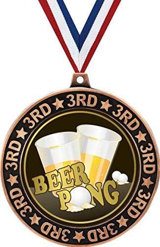 2020モデル Beer Pong 3rd Place Perimeter Medal レビューを書けば送料当店負担 Priz 2.75