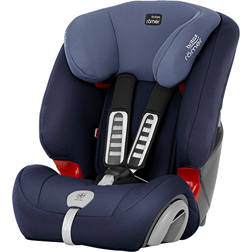 Britax Römer Kindersitz 9 Monate - 12 Jahre I 9 - 36 kg I EVOLVA 123 PLUS Autositz Gruppe 1/2/3 I Moonlight Blue