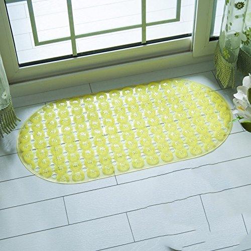 Tapis de bain de juillet Baignoire Salle de douche Ottomans Massage Toilette Tapis étanche (Couleur : Le jaune)