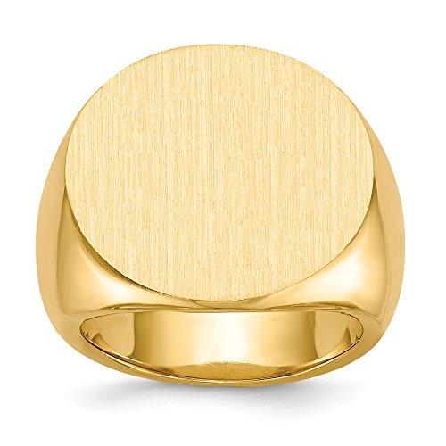 Diamond2Deal - Anello da uomo in oro giallo 14 kt, 2 mm, misura 10, per lui