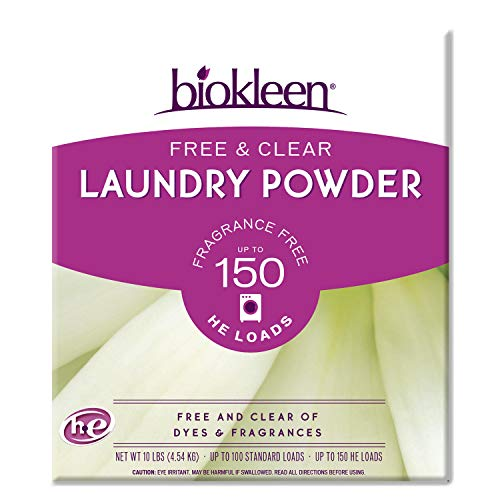 Biokleen Free & Clear Laundry Detergent - 150 Loads - Powder, Concentrated,...