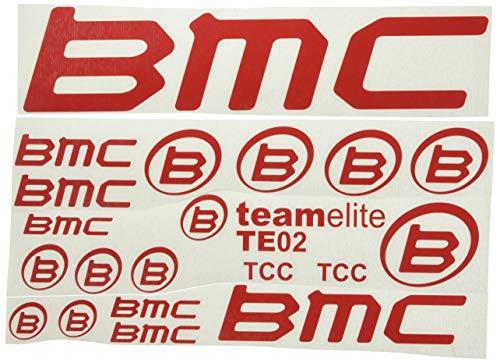 Ecoshirt GN-FMUS-KEPC Aufkleber BMC F167 Vinyl Adesivi Decal Aufkleberbögen ungemŸhr MTB Stickers Bike, rot