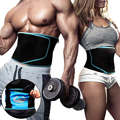 Waist Trimmer for men and women for workout and sweat ABS(M) Blue