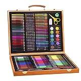 Kit de pintura profesional de acuarela de dibujo – 150 unidades – Set de pintura de rotuladores para colorear para niños – Incluye lápices de colorear, lápices de acuarela, pasteles al óleo