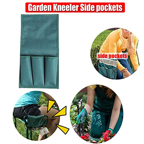 Folding Garden Kneeler Bench#039s Small Tool Side Bag  Suits for Garden Bench Garden Kneeler | Can use for The Lightweight Garden Stools with Tool Pouch and Soft Kneeling Pad