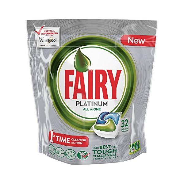 Fairy Platinum Cápsulas para Lavavajillas – Pack de 32unidades