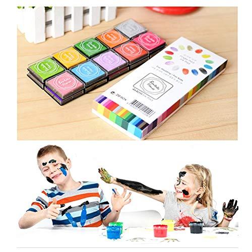 Stempelkussens, stempelkussens, inkt, digitaal, voor gebruik met rubberen stempels op papier, goed cadeau voor kinderen