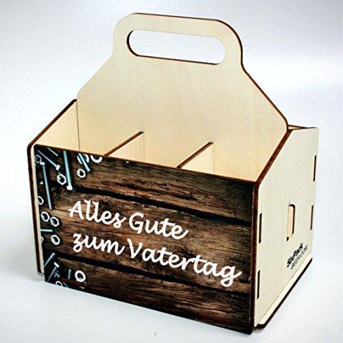 Bierträger aus Holz - Sixpack Männer - Grillen (Alles Gute zum Vatertag)