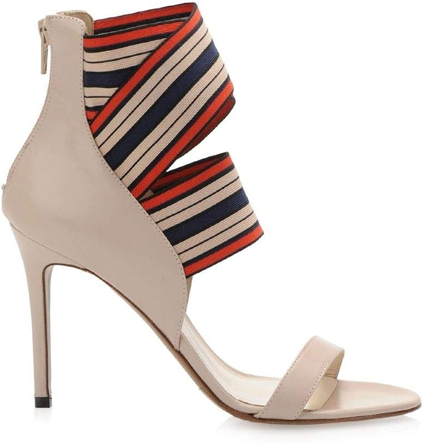 PINKO Women's 1H20FYY4E8O52 Beige Leather Sandals
