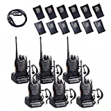 BaoFeng BF-888s 2 Way Radio with 12 1500mah Li-ion Batteries Long Range Baofeng Walkie Talkie Two Way Radio (6 Pack) + One USB Programming Cable