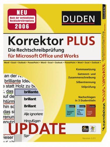 Update Duden Korrektor PLUS Die Rechtschreibprüfung für Microsoft Office und Works Version 3.51