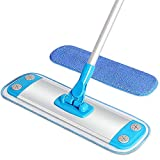 MR.SIGA Microfiber Mop,Aluminum Mop Frame and Aluminum Handle Size 40 x 12cm, 1