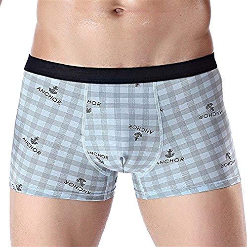 Lanceyy Pantalones Cortos De Clásico Algodón Simple Boxer Estilo Hombres para Algodón...