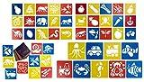 Sagome Animali per Disegno Stencil (54 Pezzi), Plastica, 15,2 x 14,2 cm Ciascuno