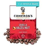 Cameron's Coffee Roasted Whole Bean Coffee, Flavored, Vanilla Hazelnut, 4 Pound