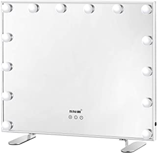 Maxkon Hollywood Makeup Mirror with 14 LED Bulbs Aluminum Adjustable Brightness