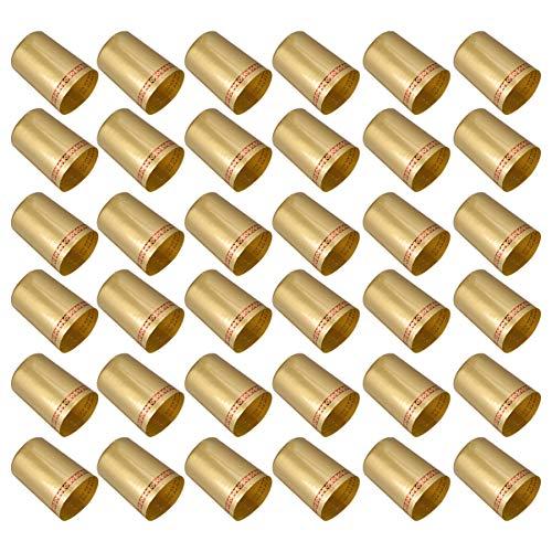 Cabilock 100 Stück Schrumpfkappen für Weinflaschen PVC-Schrumpfkapseln Weinschrumpffolienkapseln für Weinkeller Heimgebrauch 33Mm Golden