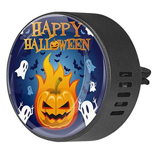 2 piezas difusor de aromaterapia difusor de aceite esencial de coche Clip de ventilación murciélagos de calabaza de Halloween
