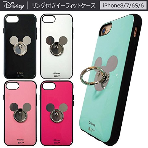 19a4ecdc79 【カラー:ミントグリーン】iPhone8 iPhone7 iPhone6S /6 ディズニー ミッキーマウス リング付き