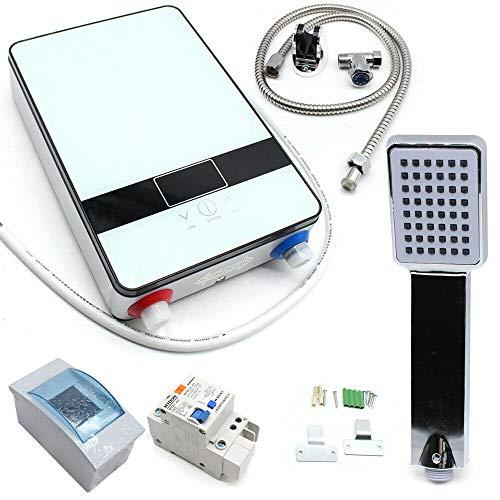 Anciun, piccolo scaldabagno elettronico digitale elettrico istantaneo a LED, 6,5 KW 220 V