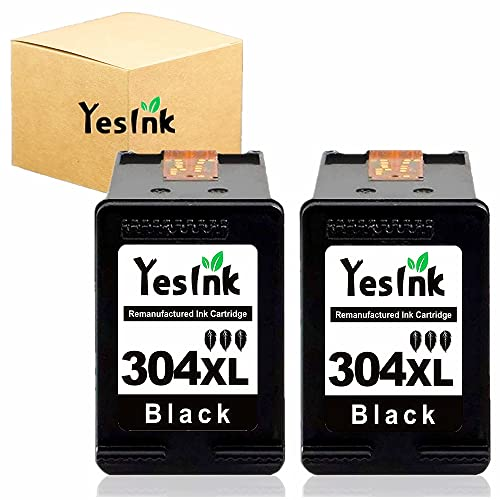 304 XL Cartucho de tinta para Cartucho tinta HP 304 Negro HP 304 XL para HP Envy 5010 5020 5030 5032 Deskjet 2620 2622 2630 (2 negro)