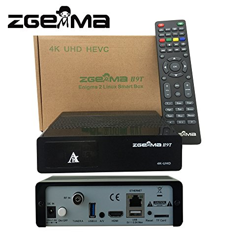 ZGEMMA H9T 4K UHD Receptor Digital FTA Decodificador Multistream Linux OS E2 DVB-T2/C Soporte IPTV