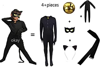 Kid's Costume Boy's and Girls Costume Black Cat Cosplay Costume for Halloween