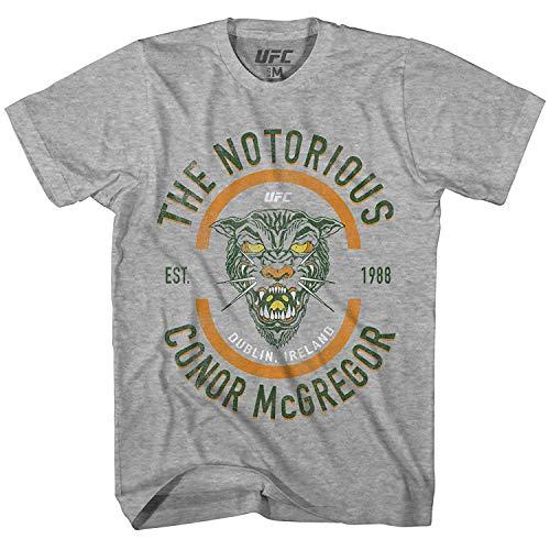 Conor Mcgregor Mens UFC Shirt - The Notorious Mens T-Shirt - UFC Champion (Heather Grey, Small)