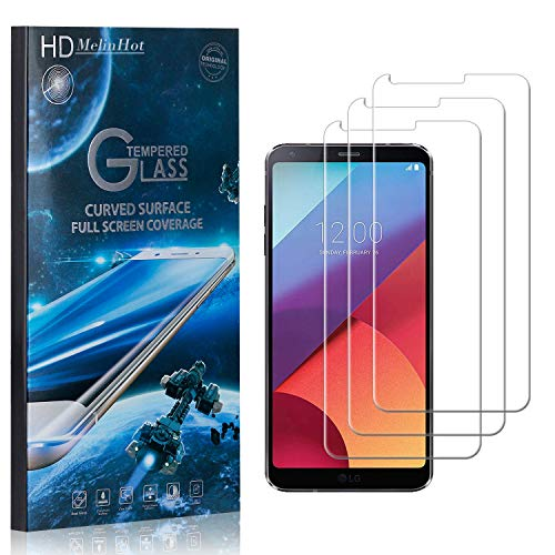 MelinHot Displayschutzfolie für LG G6, 99% Transparenz Schutzfilm aus Gehärtetem Glas, 9H Härte, Keine Luftblasen, 3D Touch, 3 Stück