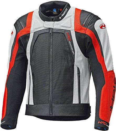 Held Hashiro II Motorrad Lederjacke Schwarz/Weiß/Rot 52